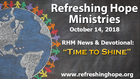 RHM Newsletter 32 and Video Devotional