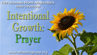 Intentional Growth 2: Prayer