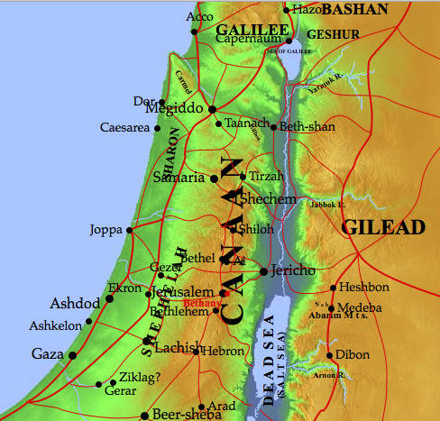 map of Bethany where Mary Martha and Lazarus lived