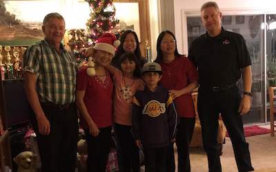 Sylvia's Family at Christmas 2015