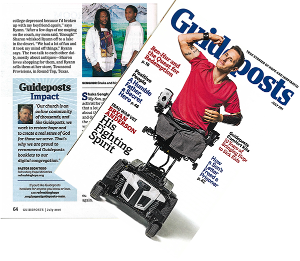 Refreshing Hope Ministries was mentioned in Guideposts Magazine - July Edition